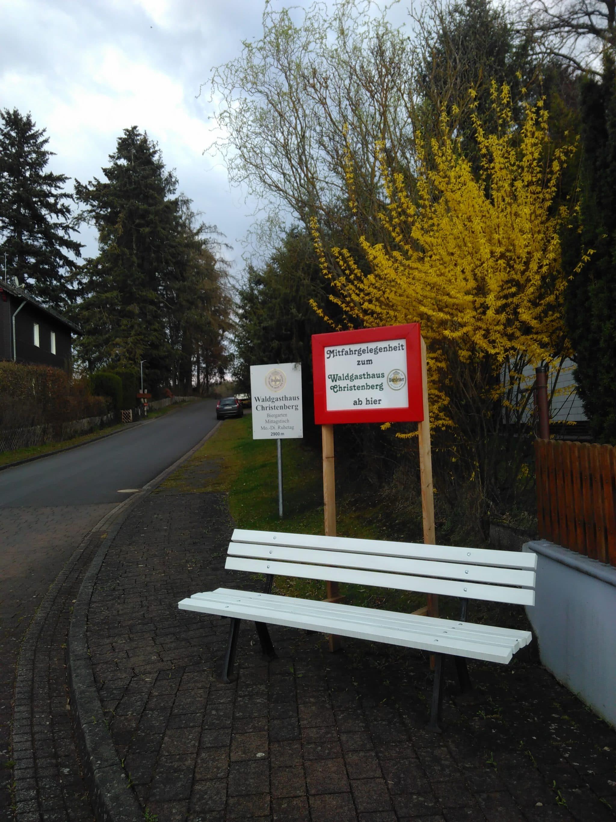Mitnahmebank zum Christenberg