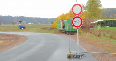 Sperrung des Lahntalradwegs